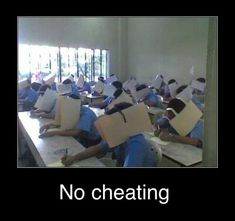 NO CHEATING!!!