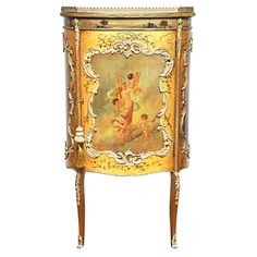 French Vernis Martin Music Cabinet | From a unique collection of antique and modern cabinets at https://www.1stdibs.com/furniture/storage-case-pieces/cabinets/