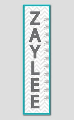 This personalized growth chart would be perfect newborn's nursery, child's bedroom or playroom. It coordinates with several popular nursery decor lines and best of all is completely personalized with your child's name