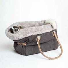 Buy Cloud 7 Dog Carrier - Heather Brown - Large | AMARA Small Dog Accessories, Heather Brown, Dog Carrier, Nordic Style, Dog Bed, Small Dogs, Bucket Bag, Dog Lovers, Cloud