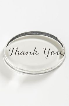 Great Gift: Thank You french crystal paperweight
