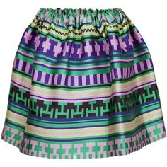 MSGM Ikat Skirt ($440) ❤ liked on Polyvore