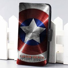 Captain America Shield Marvel wallet case for iphone 4,4s,5,5s,5c,6 and samsung galaxy s3,s4,s5 - LSNCONECALL.COM