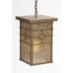 Steel Partners Historic California 1-Light Outdoor Hanging Lantern Finish: Old Iron, Shade Type: White Mica