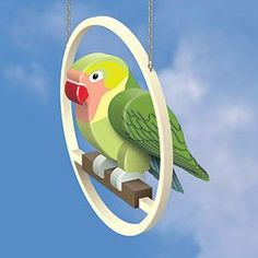 Love Bird DIY Woodcraft Pattern - Display this beautiful bird in your home without the mess of a real one. (Shown on Perch Pattern sold x x Pattern by Sherwood Creations Wood Craft Patterns, Wood Block Crafts, Wood Carving Patterns, Wooden Crafts, Wood Projects, Woodworking Jigsaw, Woodworking Courses, Learn Woodworking, Wood Yard Art