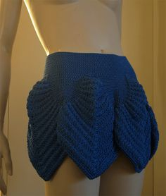 crochetmestres crochetmes3: Falda de Hojas para Star Trek 60´s