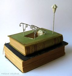 Book sculpture http://www.etsy.com/listing/173048183/into-the-unknown-book-sculpture-altered