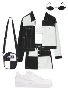 """Domino"" by blackguccishadesbish ❤ liked on Polyvore featuring Helmut Lang and NIKE"