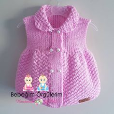 22 New Ideas Crochet Cardigan Children Sweater Coats Knit Baby Dress, Knitted Baby Cardigan, Baby Pullover, Baby Sweaters, Sweater Coats, Baby Knitting Patterns, Kind Mode, Pulls, Crochet Baby
