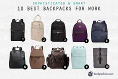 Best backpacks for work that are smart and sophisticated. Check out which women's backpacks made the list!