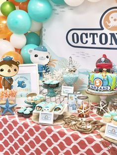 Baby Boy 1st Birthday Party, Birthday Themes For Boys, Fourth Birthday, 4th Birthday Parties, Birthday Party Decorations, Birthday Ideas, Theme Parties, Octonauts Party, Party Signs