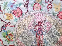 Willemien de Villiers - the memory of all things, South African contemporary embroidery artist Contemporary Embroidery, Modern Embroidery, Cross Stitch Embroidery, Growth And Decay, Fabric Board, South African Artists, Textiles, Needle And Thread, Textile Art