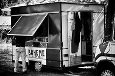 Man eaten by mobile creperie. #creperie #streetphotography #festivalpics