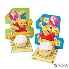 Pooh's 1st Birthday Cupcake Holders