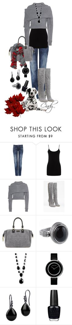 """Fall & Winter"" by cindy32tn ❤ liked on Polyvore featuring mode, Oasis, Balenciaga, French Connection, Georg Jensen, Pieces et OPI"