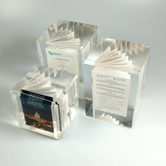 We all know how important and monumental certain contracts can be. Commemorate these valued documents with a custom Lucite recognition piece. We created miniaturized versions of these agreements prior to embedding them in clear Lucite cubes, making them a great momentum for everyone involved! Cubes, Instagram Posts