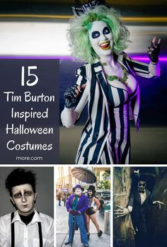 This Halloween go all out and recreate one of your favorite Tim Burton characters. Whether you're into Edward Scissorhands or Coraline, we've got you covered. Halloween 2018, Tim Burton Halloween Costumes, Hallowen Costume, Halloween Cosplay, Diy Costumes, Halloween Themes, Halloween Party, Costume Ideas, Halloween Makeup