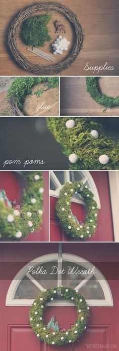 Polka Dot Wreath