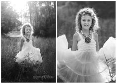 Children's Photography / black and white / natural light / little girl pose idea