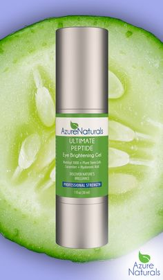 Discover the power of Azure Naturals Ultimate Peptide Cucumber Infused Eye Brightening Gel. It is no exaggeration to say that this formula addresses every single eye area concern possible. Dark circles, wrinkles, sagging, puffing, loss of plump and firm, loss of tone and resilience....it's all taken care of in this delicate and light gel. http://www.azurenaturals.com/collections/top-sellers/products/ultimate-peptide-eye-gel