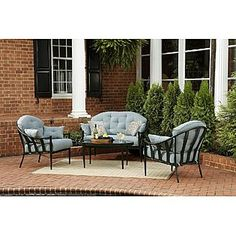 Jaclyn Smith Today Chandler 4pc Seating Set   Outdoor Living   Patio  Furniture   Casual Seating