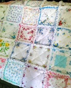 Vintage Style Hanky Handkerchief Rag What a cute idea