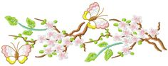 Branch free embroidery 3 - Decoration free embroidery designs - Machine embroidery community
