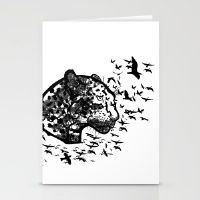 Forest Leopard Stationery Cards