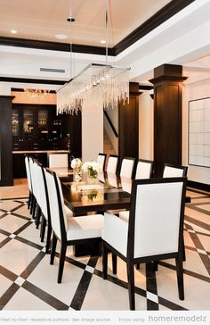 Contemporary formal dining room sets