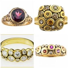 Alex Sepkus rings. Once you see his work in person you will never forget it!!