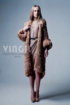 Original chunky knitted coat MOROSHKA by by MoroshkaByVingil