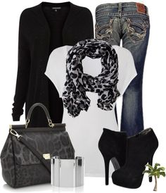 """Leopard and Black"" by cindycook10 on Polyvore"