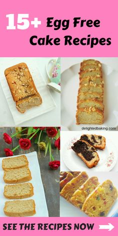 Learn to bake egg free cakes. These are as good as those containing eggs. These egg free cakes are moist, light and delicious! Easy Casserole Recipes, Fun Easy Recipes, Dairy Free Recipes, Baking Recipes, Cookie Recipes, Healthy Recipes, Healthy Baking, Köstliche Desserts, Delicious Desserts