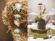 Jenny Packham, rustic floral coral wedding, Laura McCluskey Photography