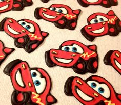 Royal Icing Transfers (Lightning McQueen)