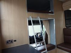Compact living area in our Compact 7.5 tonne Helios #horseboxes for sale. #horsehour #horseboxesforsale