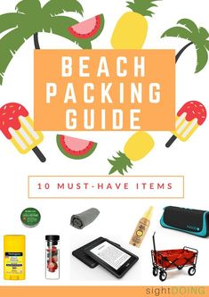 You need this beach packing list to find the best beach gear for your next getaway. Find out what electronics, games, and sun protection you need for your summer vacation. Beach Vacation Packing List, Beach Vacations, Beach Travel, Beach Items, Beach Gear, Best Day Ever, Sun Protection, Traveling By Yourself, Summer Beach