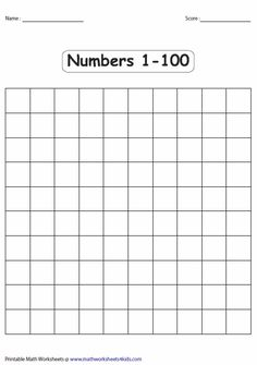 Blank 100 Chart For Kids Blank Hundred Square Printable One Hundred Chart To Print One To One Hundred Number Chart Printablej Free Blank One Hundred… 100 Number Chart, 100 Chart, Printable Math Worksheets, Writing Worksheets, Four Square Writing, Maths Exam, Education Quotes For Teachers, Education College, Math Questions