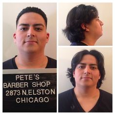 Before and After --- Slickback at at Pete's Barber Shop (2873 N. Elston, Chicago)