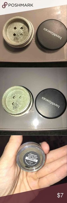 Bareminerals loose eyeshadow in celery Bare minerals loose eyeshadow in celery.See picture that shows how much is left, priced accordingly. Authentic, all of my bare mineral shadows were purchased at Macy's/Sephora!  Prior to shipping, I will get the shadow down under neath and seal w a small piece of tape to prevent it from all coming up to the top during shipment! Several of the shadows have part of the sticky label that Macy's put on them when purchased.  Bundle and save...I have several…