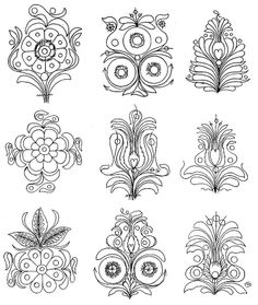 Hungarian Embroidery, Embroidery Works, Wool Embroidery, Embroidery Patterns, Pattern Art, Print Patterns, Pattern Design, Dot Painting, Fabric Painting