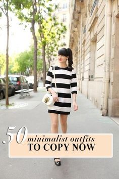 50 Chic Minimalist Outfits to Copy this Summer!