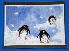 Potato Print Penguins (with a little alliteration thrown in!) - 1st grade art