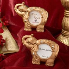 20-Gold-Finish-Good-Luck-Gold-Indian-Elephant-Place-Card-Holder-Wedding-Favors