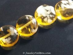 Czech Glass Beads, TOPAZ Glow in the Dark, UV Active, Flattened Round Coin, 12mm, Lot Size 2 to 13, #1205 C