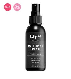 NYX Professional Makeup Make Up Setting Spray,Matte Finish/Long Lasting,Midnight. NYX Professional Makeup Make Up Setting Spray, Matte Finish/Long Lasting, Ounce. A lightweight makeup setting spray that works hard to make sure your makeup stays put. Best Drugstore Setting Spray, Best Makeup Setting Spray, Best Drugstore Makeup, Make Up Spray, Make Up Primer, Primer Base, Matte Nyx, Beauty Makeup, Makeup Storage