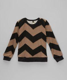 Love this Black & Tan Chevron Sweater - Toddler & Kids by Kid Swag on #zulily! #zulilyfinds