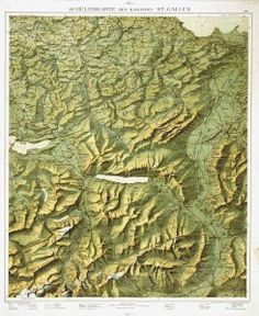 MapCarte The Heart Of Canyonlands By Tom Patterson - Jamaica shaded relief map 1968