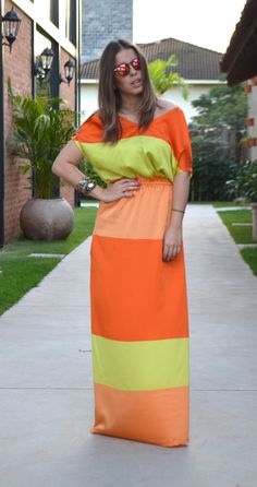 Meu Look: Long Dress!