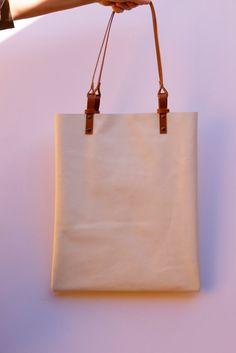 20% OFF !! Beige Leather tote bag, leather handbag, Leather tote bag. Large leather bag. Handmade on Etsy, $82.59